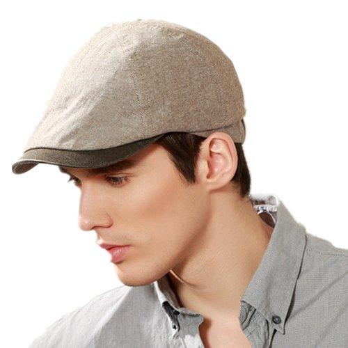 Kenmont Printemps Hommes Coton Visière Golf Cabbie gavroche Cap Ivy Hat (Couleur café) - 58 cm