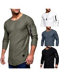 Roiper Homme Polo Shirt de Slim Fit V Neck Manches Longues T-Shirt Col à f64674b84bf