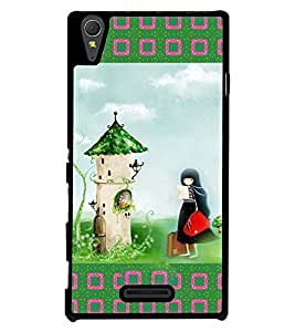 Fuson 2D Printed Girly Designer back case cover for Sony Xperia T3 - D4145