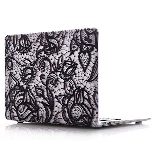 MacBook Air 13 Hülle, L2W MacBook Air 13,3 Zoll Lace Designer Art Pattern Hard Shell Kunststoff Abdeckung Schutzhülle für MacBook Air 13.3 '' (Modell: A1369 / A1466) - LS5 -