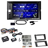 JVC KW-V255DBT USB Autoradio Touchscreen Bluetooth Moniceiver Autoradio DVD CD MP3 WMA DAB+ Digitalradio Einbauset für Mercedes E Klasse W211 CLS W219