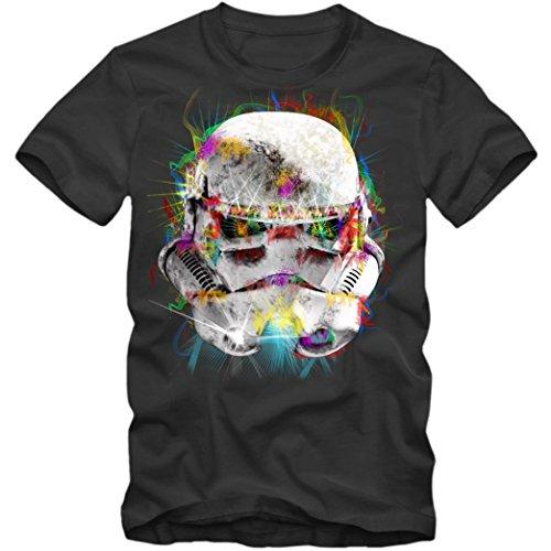 irt Jedi SW Science Fiction Episode Kinofilm TV Kult Herren Shirt, Farbe:Dunkelgrau (Dark Grey L190);Größe:M ()