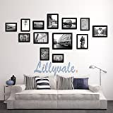 Large Multi Picture Photo Frame Frames Wall Set 13 Pieces (Black)