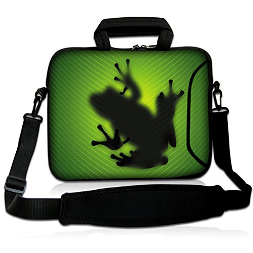 Sidorenko - Borsa in Neoprene per notebook borsa a tracolla per PC portatili Laptop Sleeve Case 15-15.6 Pollici / MacBook Air / MacBook Pro con manici e tracolla tasche per