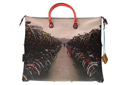 Gabs Damen G3 Tg L-Piatta Trasformabile Studio Print Business Tasche, 1 x 36 x 43 cm Mehrfarbig (322 - Bici)