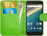 LG Google Nexus 5X Hülle Leder Klapphülle mit Kartenfach