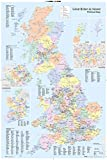 "GB eye ""UK Map, Political"" Maxi Poster, Multi-Colour, 61 x 91.5 cm"