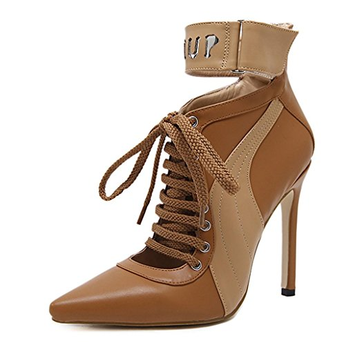 DZW New Womens Strap Mid Heel Casual Smart Work Ladies Pump Court Shoes Taille Personnalité