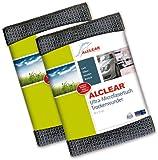 ALCLEAR 820901M 2er Set Ultra-Microfasertuch Trockenwunder Maxi - perfekt für Auto und Motorrad - 80 x 55 cm, anthrazit