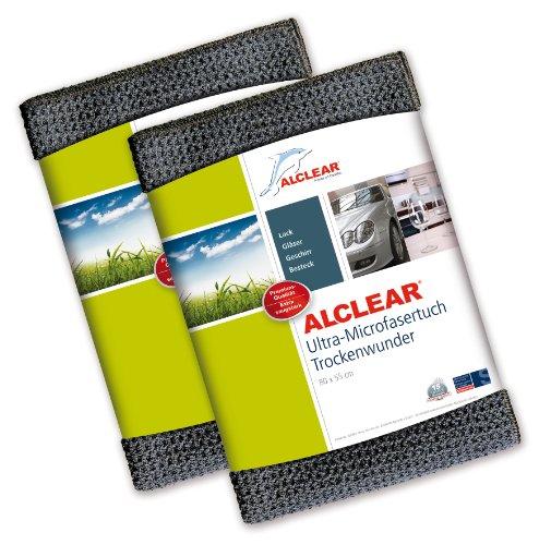 Preisvergleich Produktbild ALCLEAR 820901M 2er Set Ultra-Microfasertuch Trockenwunder Maxi - perfekt für Auto und Motorrad - 80 x 55 cm, anthrazit