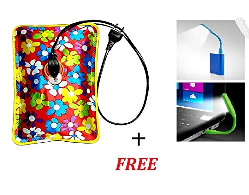 Hot water bags for pain relief electric, electric hot water bag gel for pain relief, rubs electric gel bottle pouch, electric hot water bags- USB led light worth Rs- 80/- free - GIFTIES