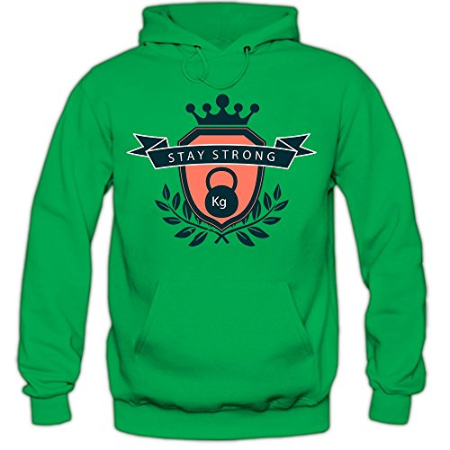 Fitness Hoodie | Training |Krafttraining |Gewichtheben | Sporthoodie |Kapuzenpullover, Farbe:hellgrün (Kelly Green);Größe:XXL