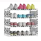 UDEAR-Rangement-tagre-a-chaussures-Armoire-Meuble--Chaussures-Shoe-Rack-blanc-4-couches