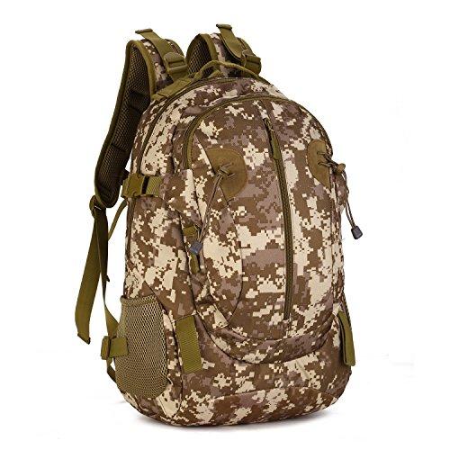 SUNVP 40L Tactical Rucksack Military Assault Pack Wandern Camping Rucksack Daypack Große Wasserdichte Daypack Armee Überschuss Ausrüstung Outdoor Jagd Sport Radfahren. (Überschuss Rucksäcke Armee)