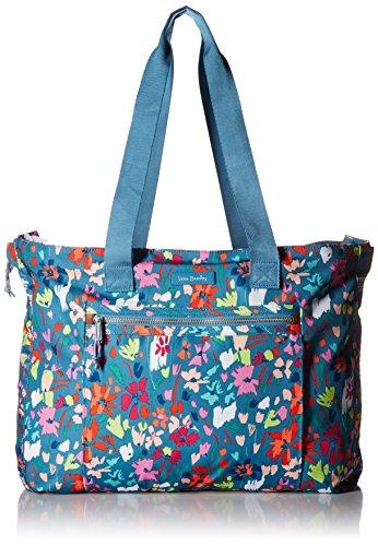 Vera Bradley Damen Expandable, Polyester Aufleuchten (Lighten Up), erweiterbare Tote-Tasche, Superbloom-Skizze, Einheitsgröße