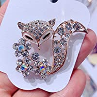 Alaojie Rhinestone Animal Shape Brooch Alloy Brooch Clothes Ornament Decor for Sweater Dress Cardigan Gold