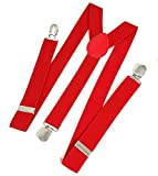 Zacharias Fire Red Suspenders for Men