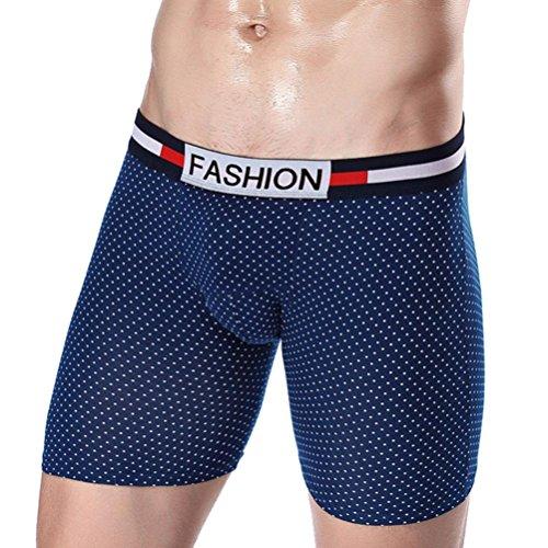Sansee Mode Männer Fünf Punkt Unterwäsche, Mode Mens Underpants Sexy Slips Shorts Unterwäsche (CP03 Blau, XXXL(XXL)) (Buffalo Kostüm Für Kinder)