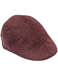 De punto boina sombrero invierno hombres algodón clásico braga Plate gorra  Gavroche sombrero plana ... 61524aa0168