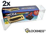 2x Custodia protettiva per C64 Mini / Box Protector per Commodore 64 Mini 0,5 mm SPESSORE Confezione originale TRASPARENTE E IDONEITÀ