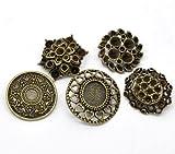 SiAura Material ® - 10x Zufällig Gemischte Metallknöpfe