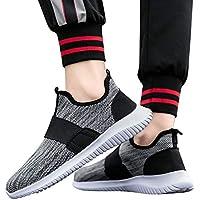 Bellelove❤ Männer Atmungsaktive Laufschuhe, Herren Frühjahr und Herbst Atmungsaktive Laufschuhe Volltonfarbe Freizeitschuhe Leichte Bequeme Sportschuhe