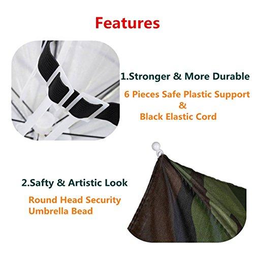 ELEGIANT Faltbare Sonnenschirm Regenschirm Hut Regenhut Sonnenhut für Outodoor Sport Golf Angeln Camping Mütze Kopfbedeckung - 4