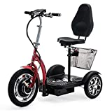 VELECO 3 Wheeled Folding Electric Scooter Mobility Trike ZT16