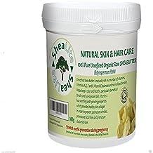 shealite non raffinato, Crudo, Naturale Avorio Burro di Karité - 100%puro- PERFETTAMENTE Best SALUTE benefici per tutti pelle e capelli Certificato Organico da Soil Association - 100g