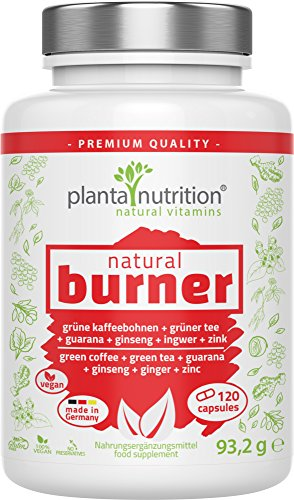 natural burner, natürlicher Fettverbrenner, Fatburner, 120 Kapseln, vegan, hochdosiert - Abnehmen, Stoffwechsel, Gewichtsverlust, Diätpillen -