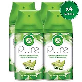 AirWick Air Wick Freshmatic, Honeydew & Cucumber Air Freshener, 250 ml Refill (Pack of 4)