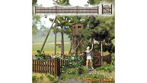 busch-10241-wooden-garden-fence