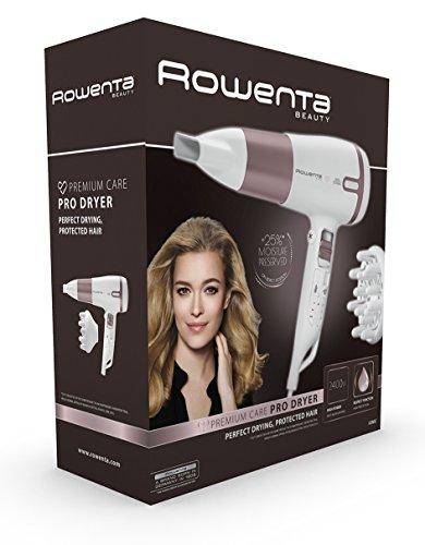Rowenta Premium Care Pro CV7460F0 - Secador, alta capacidad, 2400 W, función iónic y respect para un 25% menos de deshidratación, 2 velocidades y 3 temperaturas
