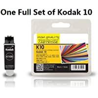 1 Full Set of Kodak 10 Black & Colour (10B 10BK, 10C 10Colour) Compatible Printer Ink Cartridge for Kodak Easyshare ESP 3 ESP 5 ESP 7 ESP 9 ESP 3250 ESP 3200 ESP 5000 ESP 5100 ESP 5200 ESP 5210 ESP 5250 ESP 5300 ESP 5500 ESP 7200 ESP 7250 ESP 9200 ESP 9250 ESP Office ESP 6100 ESP 6150 Hero 6.1 7.1 9.1 Printers