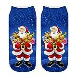 Felicove Unisex Weihnachtssocken Socks Weihnachtsmotiv Weihnachten Festlicher Baumwolle Festliche Socken Christmas Stockings für Damen und Herren