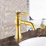 GFEI tutto il bronzo antico rubinetto / stile europeo di perforazione del rubinetto dell'acqua calda e fredda, accessori per bagno