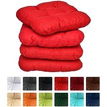 galette et coussin de chaise rouge. Black Bedroom Furniture Sets. Home Design Ideas