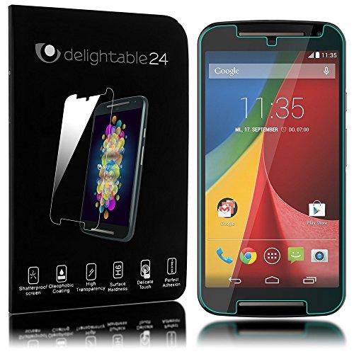 delightable24 Pellicola Protettiva Vetro Temprato Glass Screen Protector Smartphone MOTOROLA MOTO G (2. GENERAZIONE) - Transparente