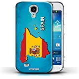 Carcasa/Funda STUFF4 dura para el Samsung Galaxy S4/SIV / serie: Naciones bandera - España Español