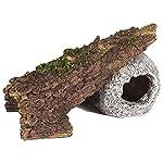 Pet Ting Sunken Skull and Broken Log Aquatic Ornament - Aquarium Decoration - Vivarium Decoration 7