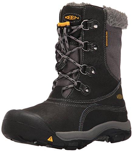 Keen Unisex-Kinder Basin WP Trekking-& Wanderstiefel, Schwarz (Black/Gargoyle), 35 EU (Winter Keen)