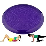 IRIS Fitness Inflated Stability Wobble Cushion, Exercise Fitness Core Balance Disc (Assorted)