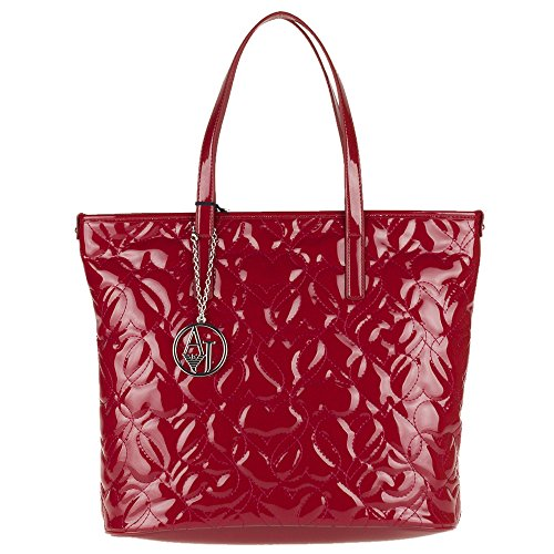BORSA ARMANI JEANS SHOPPING VERTICALE IN VERNICE 922028 6A752 BORDEAUX
