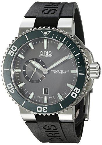 Oris Aquis de los hombres de 'Swiss automático acero inoxidable y goma reloj Casual, Color negro (modelo: 74376734137rs)