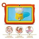 A3 Tablet para Niños 7 Pulgadas Android 6.0, 3G Tableta con Estuche de Silicona, HD Tablets 1280x800, Doble Cámara, Quad Core, 1GB RAM+16GB y Soporta Tarjeta TF, Bluetooth, Wi-Fi, GPS y Google Play