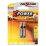ANSMANN (2er-Pack) 1,5V Alkaline AAAA Batterie (Sondergröße AAAA/LR61) Batterie für Stylus Surface Pro/Dell Venue Pro Tablet, 'Leuchtie' Hunde Leuchthalsbänder