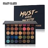 Beauty Glazed 35 Farben Smokey Lidschatten Palette Matte Langlebig & Schimmer Warm Farbe Augenschatten Palette Kosmetik Makeup
