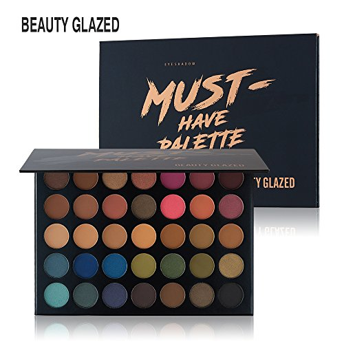 Beauty Glazed 35 Farben Smokey Lidschatten Palette Matte Langlebig & Schimmer Warm Farbe Augenschatten Palette Kosmetik Makeup -