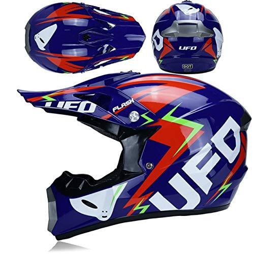 IAMZHL Renn Motocross Motorrad Helm Casque Moto Capacete Moto Casco Offroad Vollgesicht Vintage Motocross Helm Frauen-a36-S