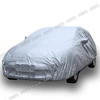 Housse Voiture Taille M couleur argente universel polyester impermeable Bache Protection